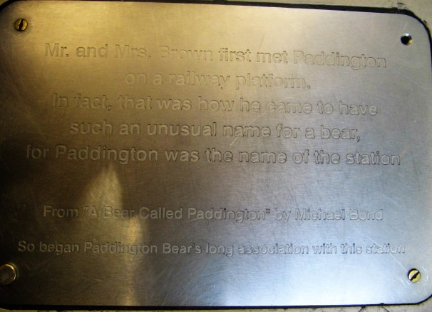 placa del osito paddington