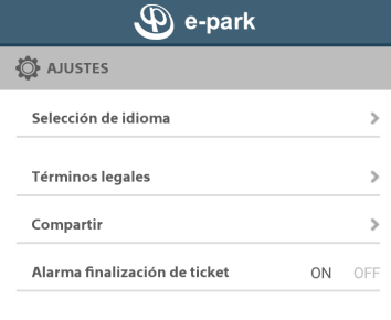 alarma fin ticket