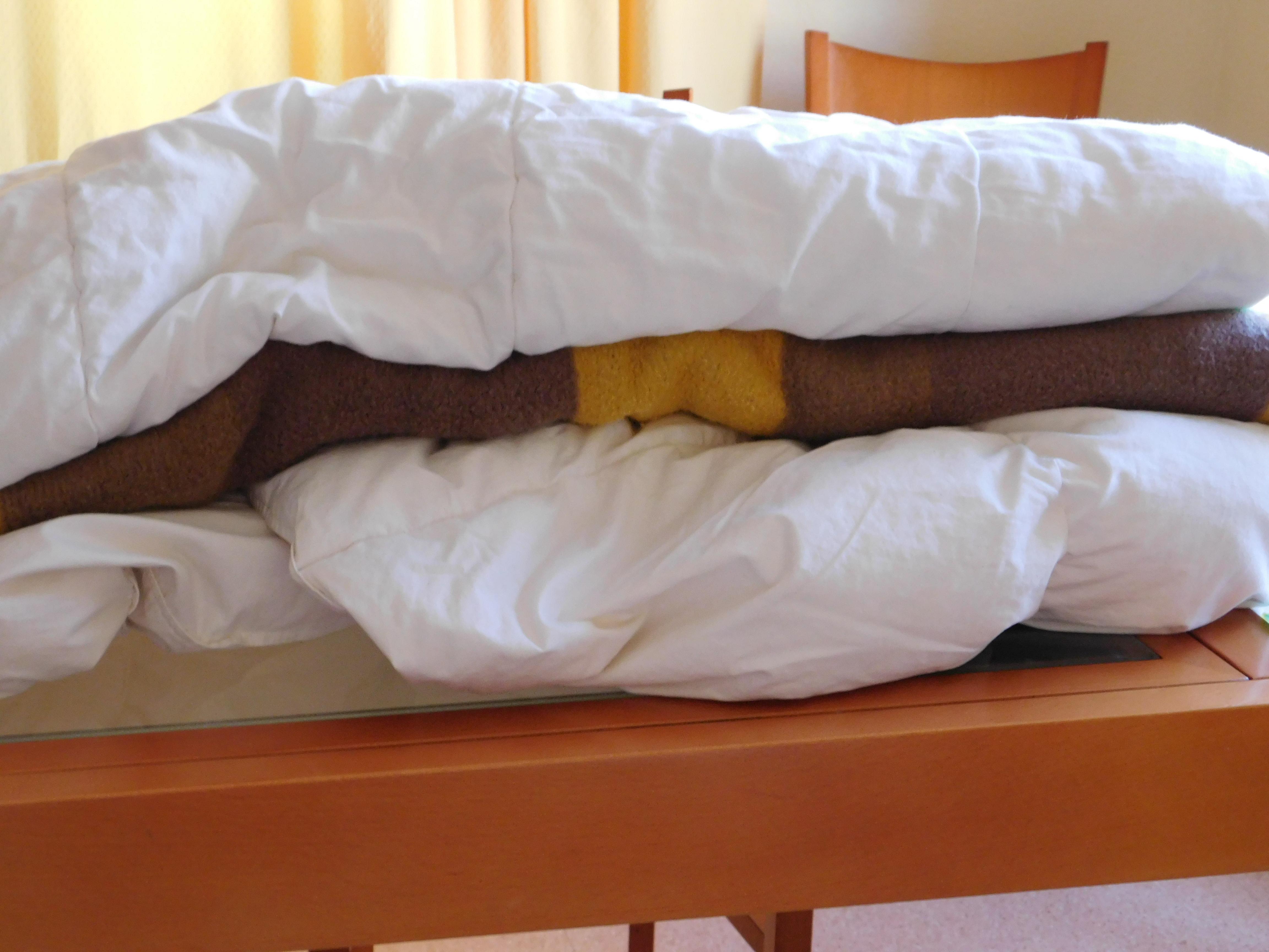 dos edredones y una manta
