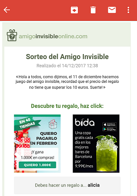 mail amigo invisible
